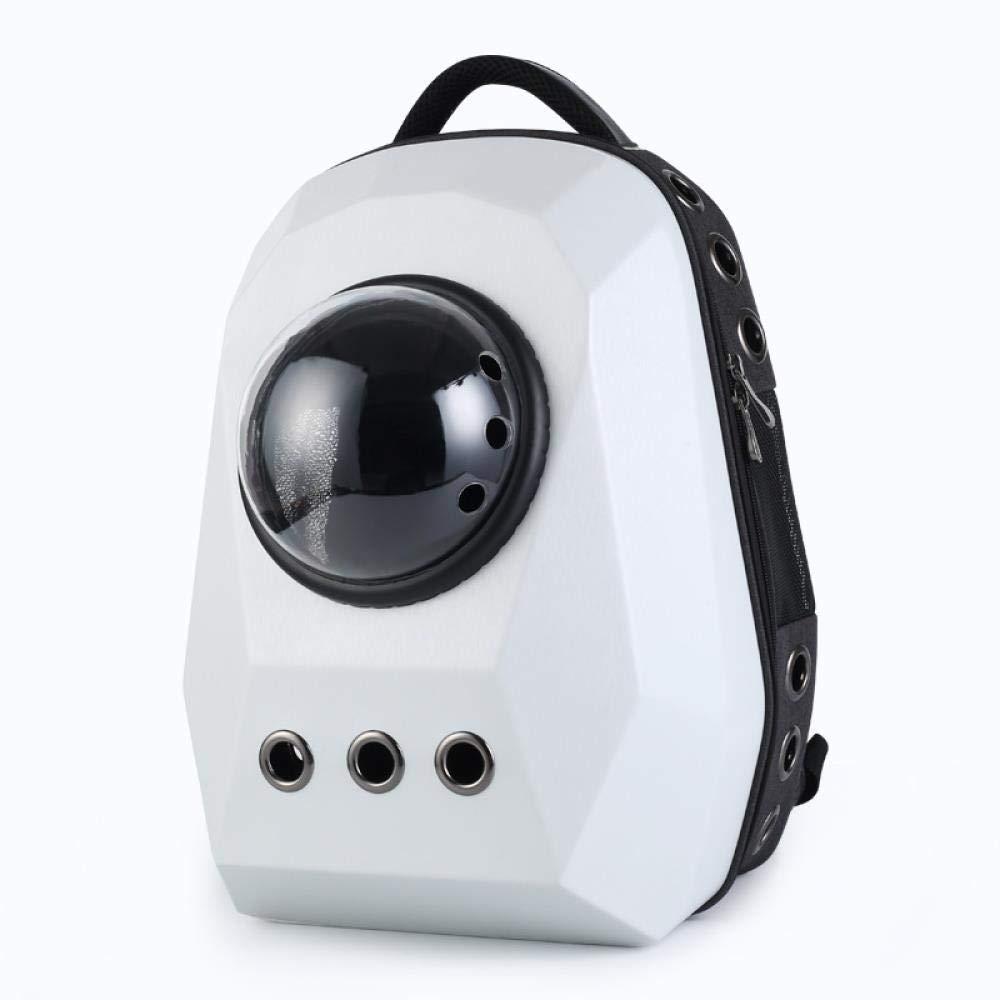WINNER POP Airline Approved Portable Soft Dog Bag Ventilation, Back Support Travel, Hiking, Walking, Fashion Cool Pet Backpack(Large), White