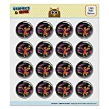 Dance Your Cares Aware Fraggle Rock Red 1.0' Puffy Bubble Dome Scrapbooking Crafting Sticker Set