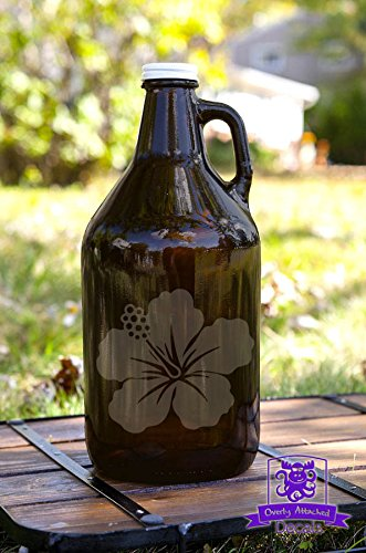 Hawaiian Flower Beer Growler Gift