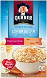 Quaker Instant Oatmeal, Low Sugar Fruit & Cream Variety Pack, Breakfast Cereal, 10 Packets Per Box (Pack of 4)