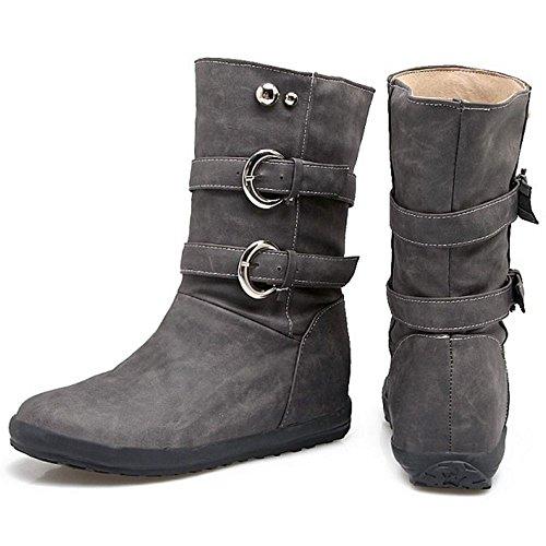 Gray Pull KemeKiss Women On 7 Boots Y1wnxqHO7R