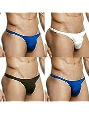 MuscleMate Premium Men's Thong Men's Sports Underwear, UltraComfort Men's Thong G-String Low Raise,