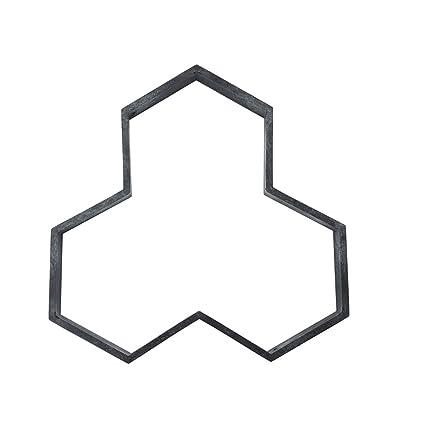 yangGradel - Molde de plástico para hormigón, diseño de ladrillo, A