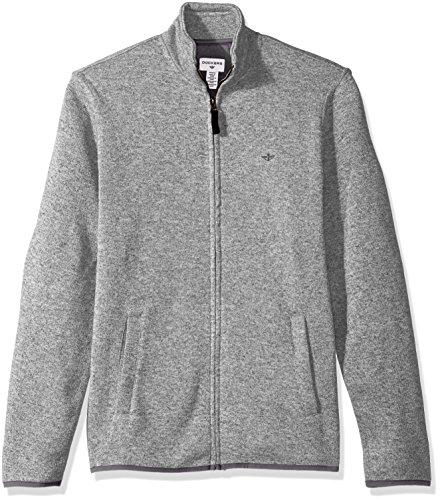 Dockers Men's Full Zip Sweater Fleece, Foil Heather, Medium (Full Fleece Zip Mens)