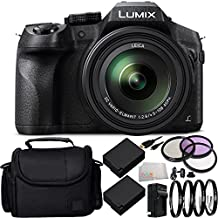 Panasonic Lumix DMC-FZ300 Digital Camera 15PC Accessory Kit. Includes 2 Replacement BLC-12 Batteries + AC/DC Rapid Home & Travel Charger + 3PC Filter Kit (UV-CPL-FLD) + 4PC Macro Filter Set (+1,+2,+4,+10) + Micro HDMI Cable + Carrying Case + MORE
