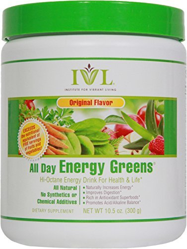 IVL All Day Energy Green Superfood, 10.5-Ounce Tub by Institute for Vibrant Living (All Day Energy Greens Ivl compare prices)