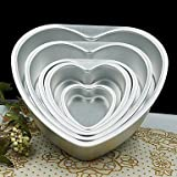 HJLHYL 5 inch Metal Love Heart Shape Cake Mold Detachable Live Bottom Pastry Mould
