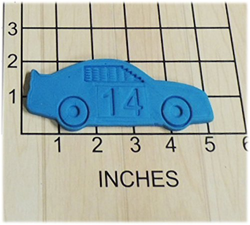 Race Car with Changeable Number Set Cookie Cutter fits with NASCAR theme #1191
