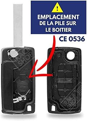 /Carcasa para llave de Citroen Saxo Berlingo Xsara Picasso ✚ pila CR1620/Varta Caja mando a distancia Jongo/