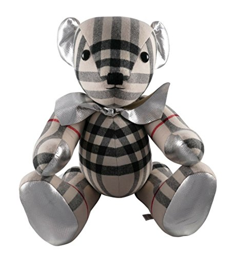 Adorned Teddy Bear Charm (Burberry Large Thomas Bear in Check 100% Cashmere 4042518 Made in England 65cm)
