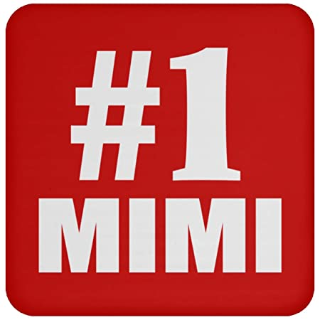 Number One #1 Mimi - Drink Coaster Red Posavasos para ...