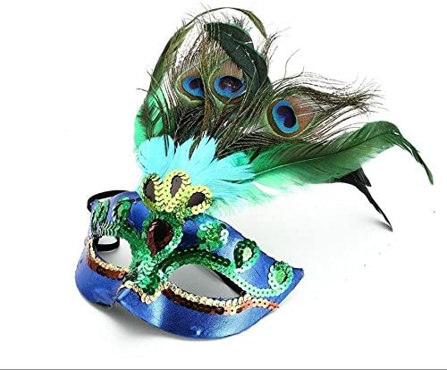PriMI - Máscaras de disfraces con plumas de pavo real: Amazon.es ...