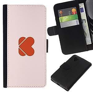KLONGSHOP // Tirón de la caja Cartera de cuero con ranuras para tarjetas - El amor del mundo - LG Nexus 5 D820 D821 //