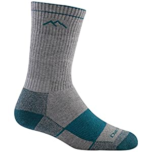 Darn Tough Merino Wool Coolmax Boot Full Cushion Sock - Women's Gray/Teal Large