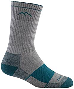 Darn Tough Merino Wool Coolmax Boot Full Cushion Sock - Women's Gray/Teal Small