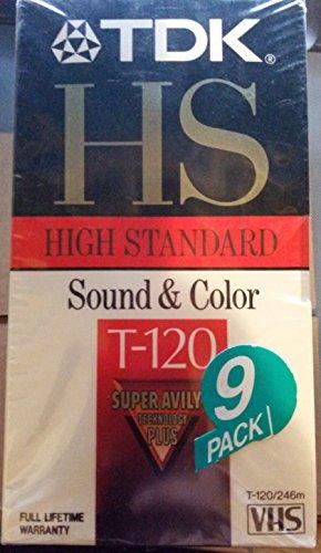 TDK HS T-120 - 9 pack