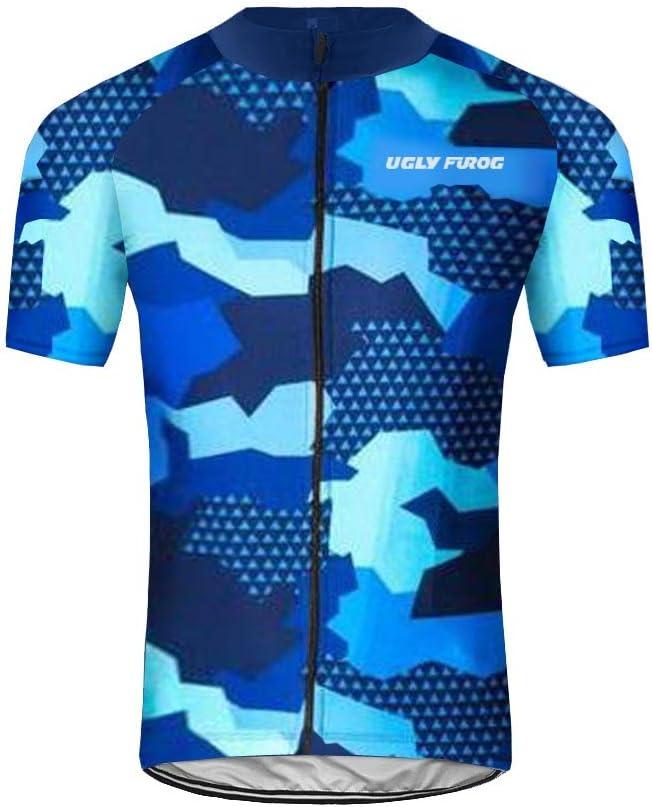 Homme Maillots de Cyclisme Vélo VTT Vêtements Veste Manches Longues Séchage
