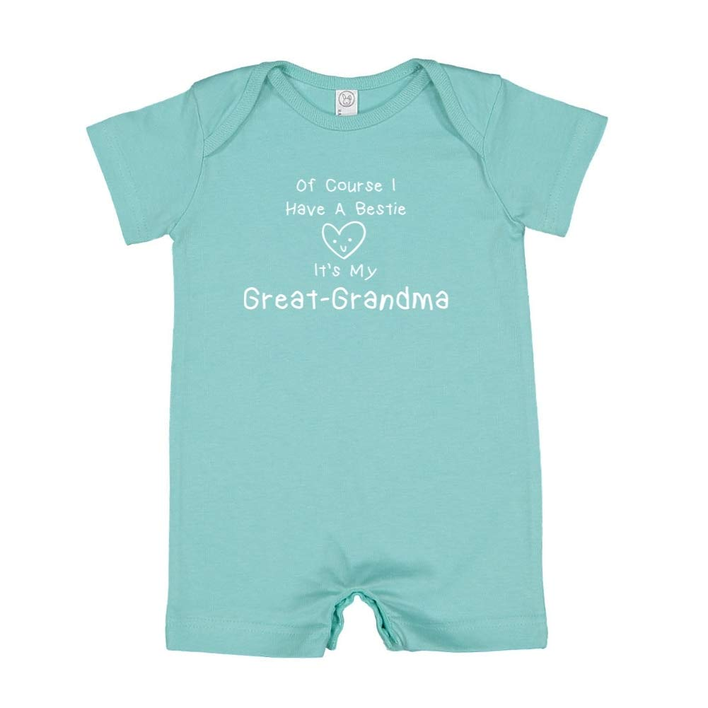 Mashed Clothing of Course I Have A Bestie Its My Great-Grandma Baby Romper