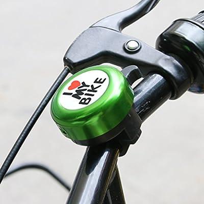 Bicycle Bell Aluminum Bike Bell Ring - ' I Like My Bike' Bike Horn of Mountain Bike Road Bike Exercise Bike Accessories for Adults Men Women Kids Girls Boys Bikes