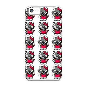 IJaYe16893bbKVy Anti-scratch Case Cover PortableLife Protective Graffitty Kitty Case For Iphone 5c
