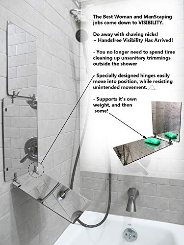 GAT Trifold Mirror - 3 way mirror used for Self Hair Cutting, Fogless Shaving in the Shower, Makeup, Hair styling and Coloring. The perfect travel mirror. G.A.T. -''Go Anywhere Tri fold'' by Viribus. by Viribus (Image #5)