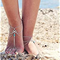 Chaîne de cheville Boho plage sandale pieds nus charme perle cheville Bracelet