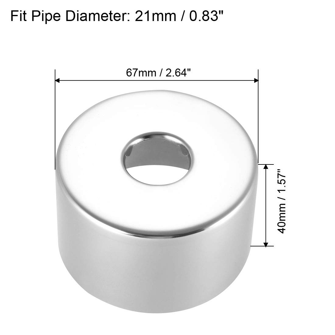 sourcing map Round Escutcheon Plate 52x5mm Stainless Steel Polishing for 21mm Diameter Pipe 3Pcs