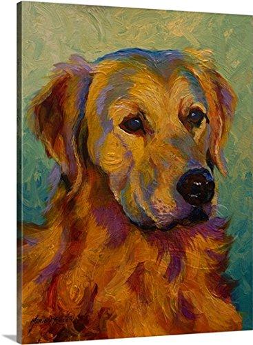 Marion Rose Premium Thick-Wrap Canvas Wall Art Print entitled Golden Retriever (Canvas Retriever)