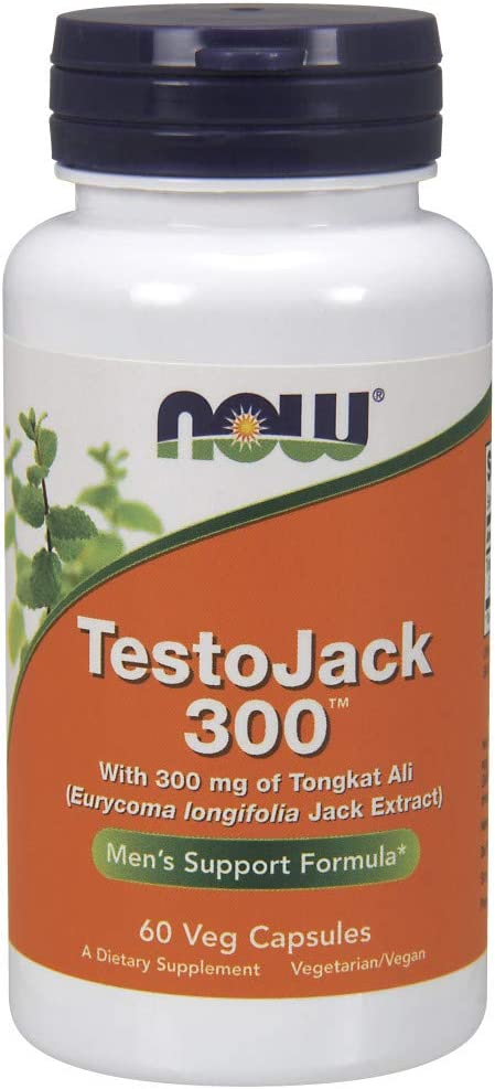 NOW Supplements, TestoJack 300 with 300 mg of Tonkat Ali (Eurycoma longifolia Jack Extract), 60 Veg Capsules