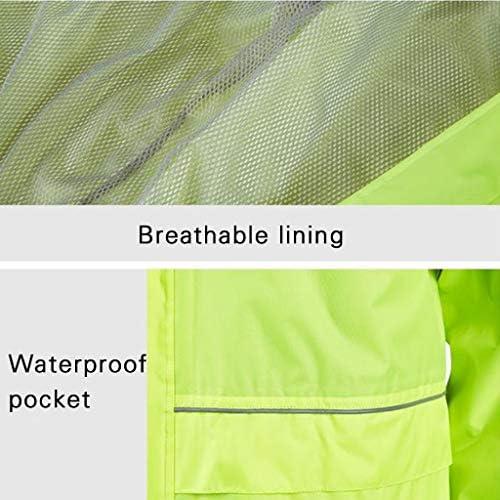 Pioggia Suit Set Waterproof Impermeabile Traspirante per Esterno + Pantaloni Impermeabile per Auto elettriche Split Type Coppia Poncho per Uomo e Donna Giacca Antipioggia Leggera