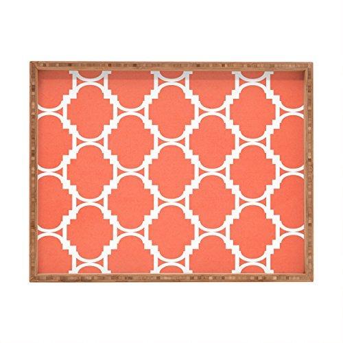 Rectangular 14 Indoor/Outdoor  Designs Talk 18 B07DWLWQ61  [並行輸入品] Pillow Tray Allen x Coral Rebecca Deny