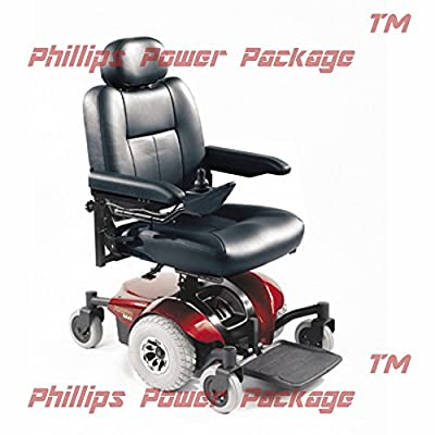 """Invacare - Pronto M41 - Semi-Recline Power Wheelchair - 18"""" x 18"""" Seat - Red - PHILLIPS POWER PACKAGE TM - TO $500 VALUE"""