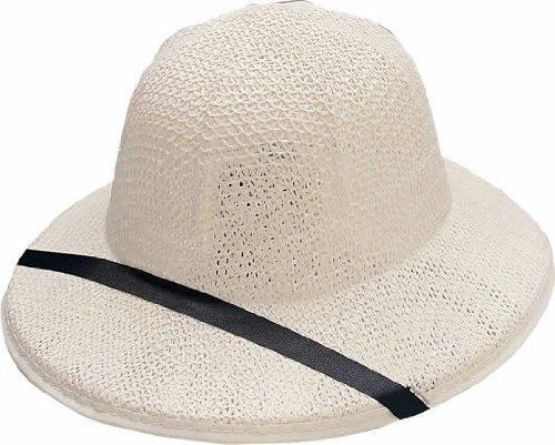 Rubie's Adult Costume White Safari Pith Straw Hat - One -