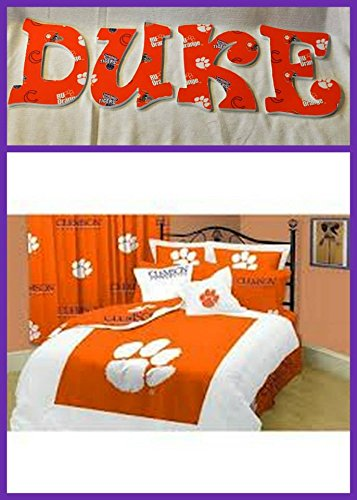 Clemsom University Tigers Wooden Letters Wall Décor