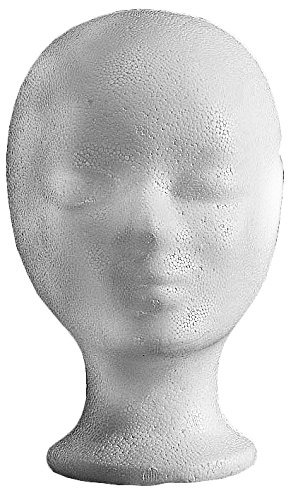 Efalock Styrofoam Head, 2 Pack (2 x 1 Pieces) 12785
