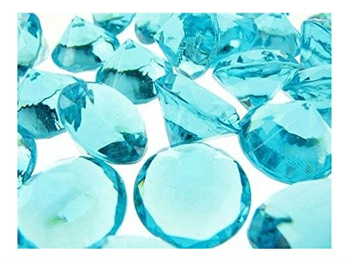 """3/4"""" Acrylic Diamond Confetti Crystal Gem Stone Table Scatter 240 PCS (TURQUOISE) from Unknown"""