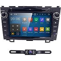 Hizpo Android 7.1 Car Radio for Honda CRV CR-V 2007 2008 2009 2010 2011 8 inch DVD Player Wifi GPS Navigation Stereo 4G Bluetooth + Camera