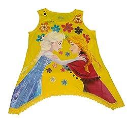 Disney Frozen Anna & Elsa Girls Fashion Tank Top (X-Large)