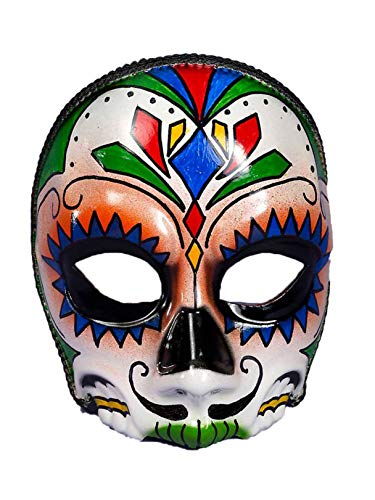 Forum Novelties Men's Day Of The Dead Male Costume Mask, Multi Colored, One Size ()