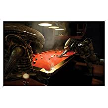 Alien Vs Predator Pool Metal Plate Tin Sign Poster Wall Decor (20*30cm) By Jake Box