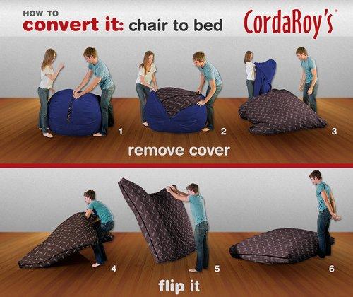 Exceptional Amazon.com: CordaRoyu0027s   Navy Blue Corduroy Convertible Bean Bag Chair    Queen: Home U0026 Kitchen