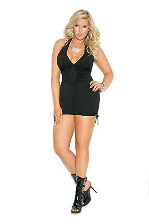 Plus size halter mini dresses