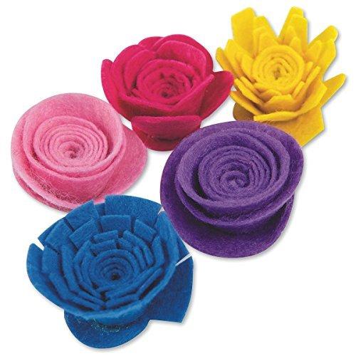 Felt Flower Spirals ()