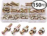 Zinc Plated Hex Drive Socket Cap Furniture Barrel Screws Bolt Nuts Assortment Kit for Furniture Cots Beds Crib and Chairs, M6 x 15/20 / 25/30 / 35mm - 150PCS by Extra-Perseverance