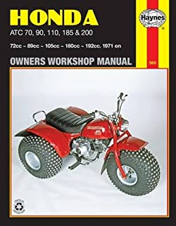 Honda atc trx fourtrax 70 125 1970 1987 service repair honda atc 70 90 110 185 200 1971 on owners fandeluxe Choice Image