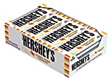 HERSHEY'S Candy Corn, Candy Corn Flavored Crème with Candy Bits Individually Wrapped Full Size Bar in Halloween Packaging, 1.55 Ounce Bar (24 Count)