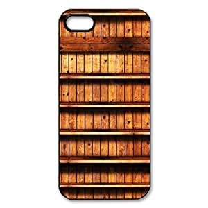 Book Shelf Pattern black plastic case For iphone 5,5s at Run horse store