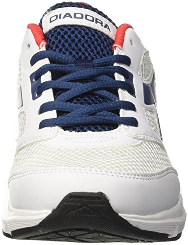Diadora Shape 7, Zapatos para Correr Unisex Adulto Blanco (Bianco Ottico/blu Estate)