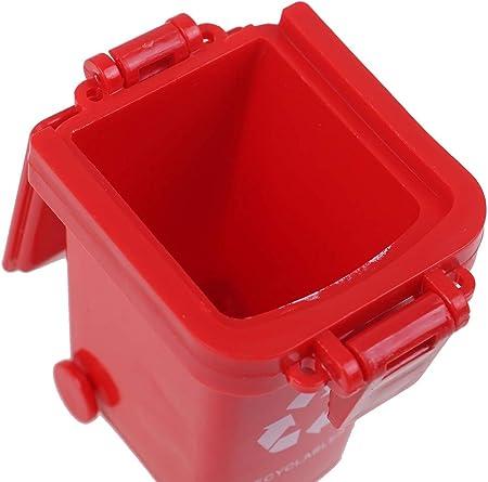 WWmily - Juego de 8 Mini papeleras de Juguete para Empujar vehículos, Basura, contenedores de Basura para vehículos, para niños pequeños