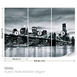FORWALL Photomural Wallpaper Mural Dekoshop New York City and Brooklyn Bridge AD226VEXXL (312cm x 219cm) Wall Design Decor Photo